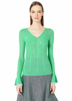 See by Chloé Bell Sleeve V-Neck Sweater