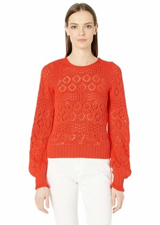 See by Chloé Puffed Sleeve Cotton Knit Sweater