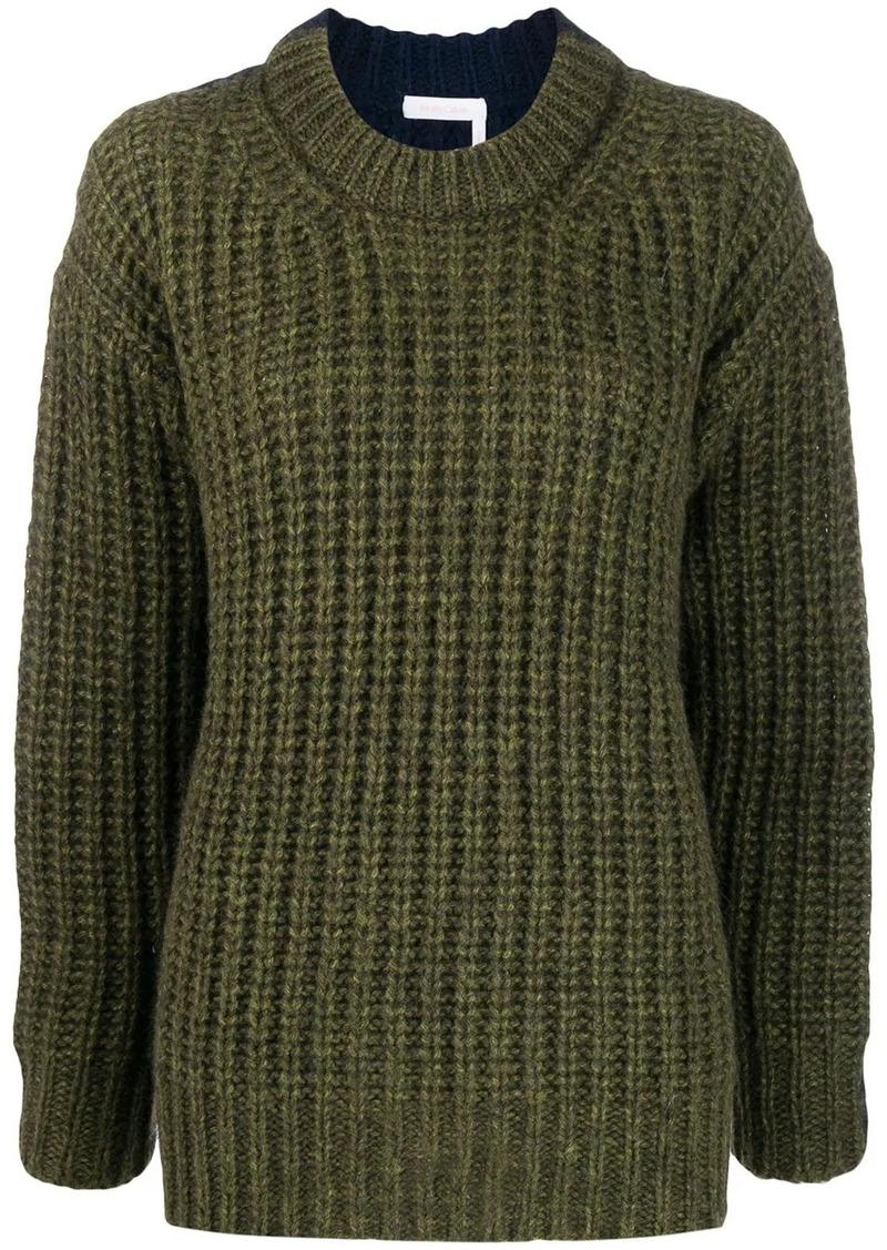 See by Chloé chunk knit jumper