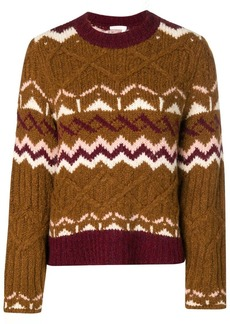 See by Chloé chunky knit patterned jumper