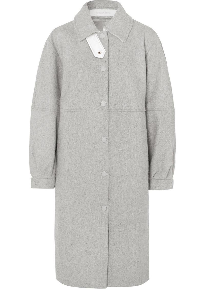 See by Chloé City Oversized Wool-blend Felt Coat