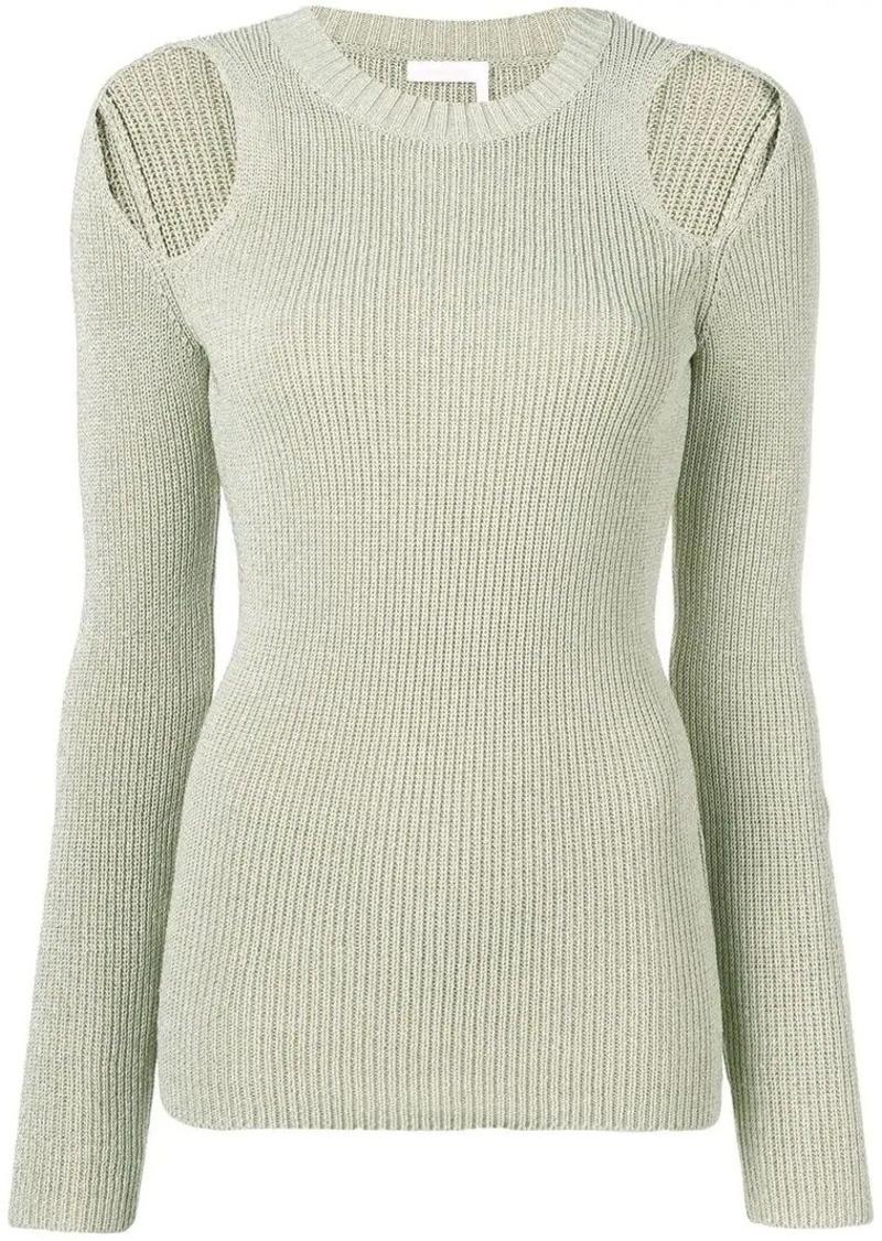 See by Chloé cold shoulder jumper