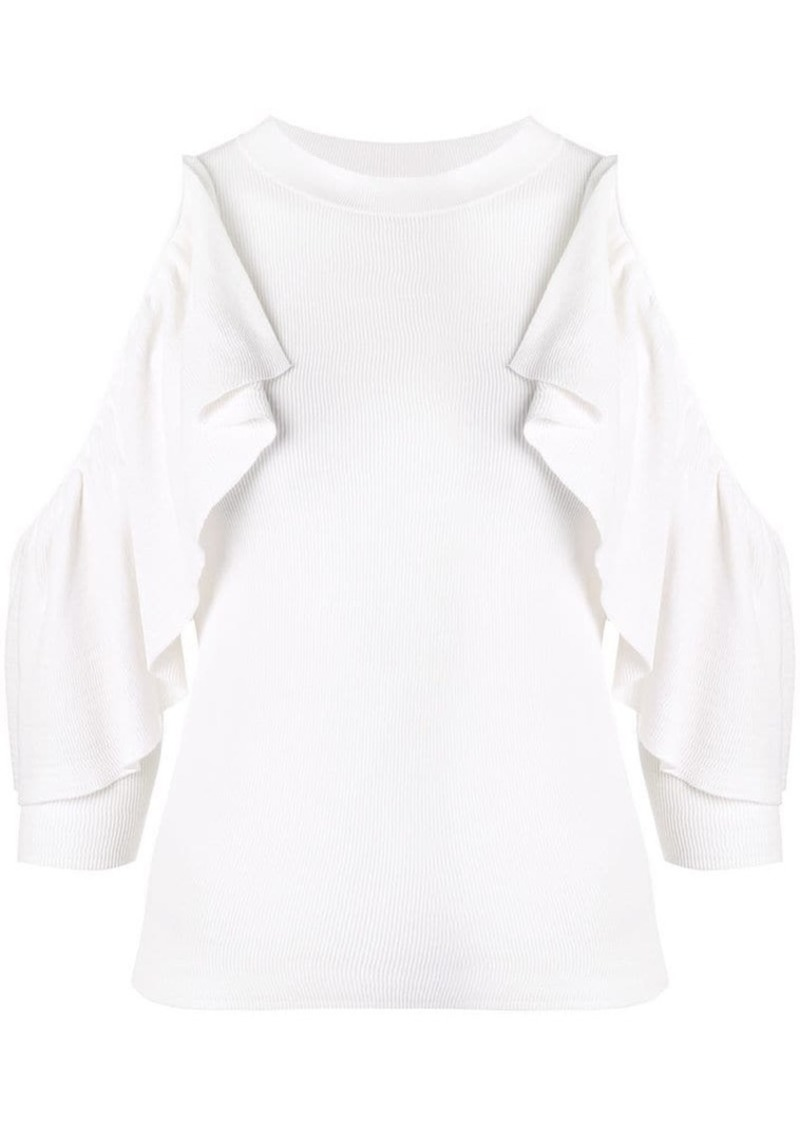 See by Chloé cold-shoulder ruffle sweater