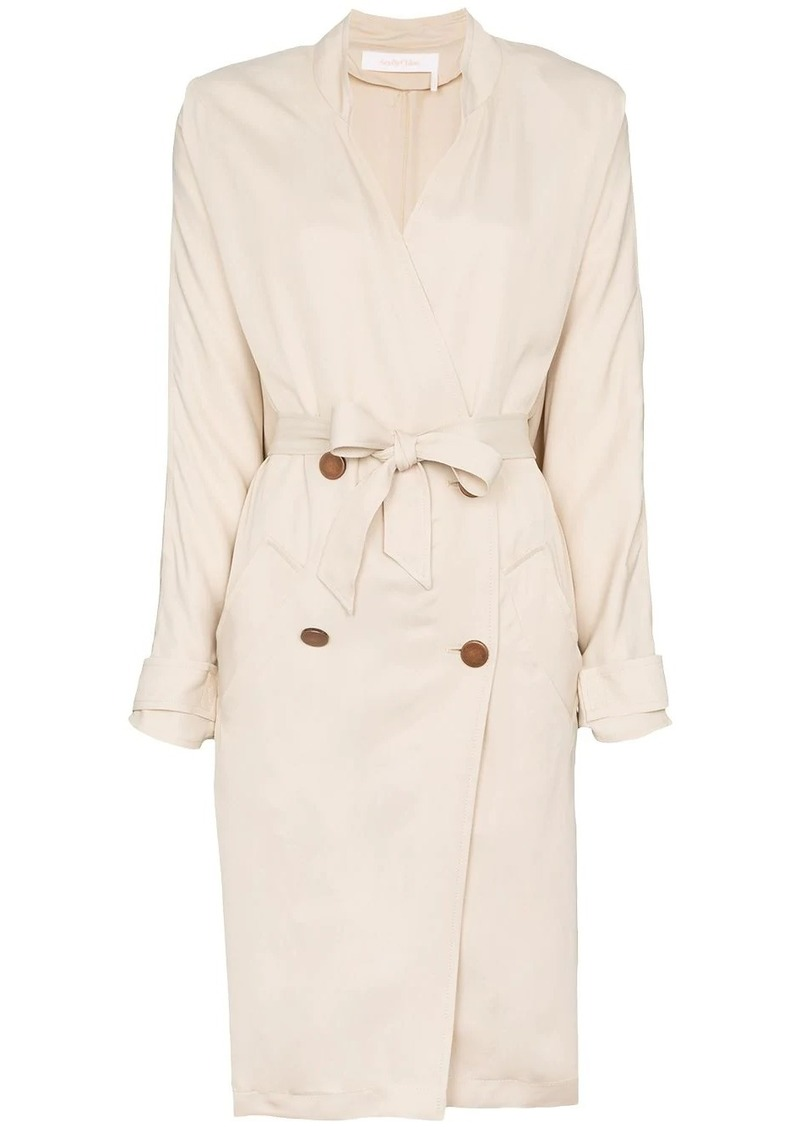 See by Chloé collarless double-breasted trench coat