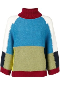See by Chloé colour-blocked loose sweater