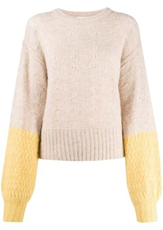See by Chloé colour-block balloon knit jumper