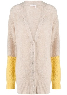 See by Chloé colour-block button cardigan