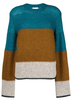 See by Chloé colour block knit jumper