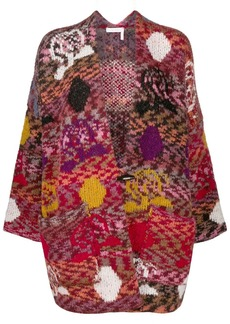 See by Chloé colour-block patchwork cardigan