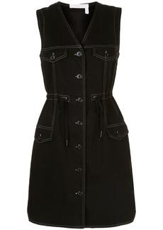 See by Chloé contrast stitching denim dress