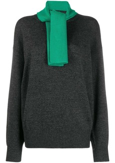 See by Chloé contrasting puss-bow jumper