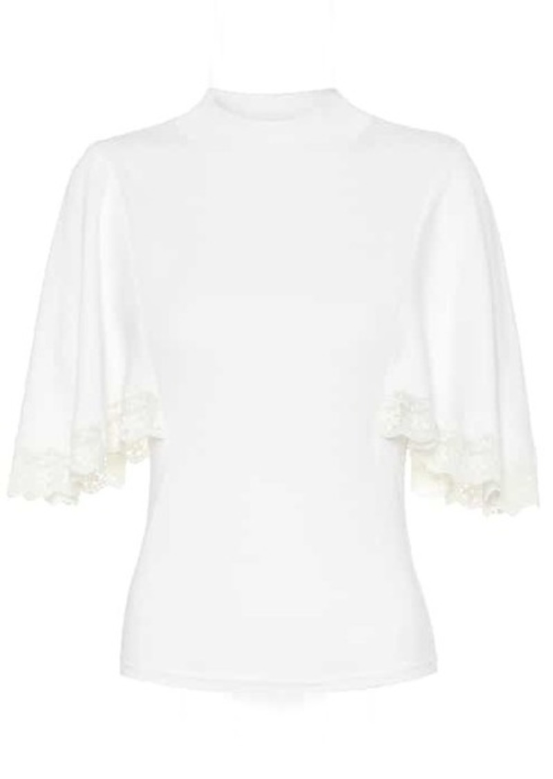 See by Chloé Cotton and silk-blend sweater