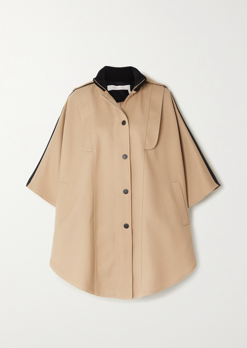 See by Chloé Cotton-blend Twill Cape