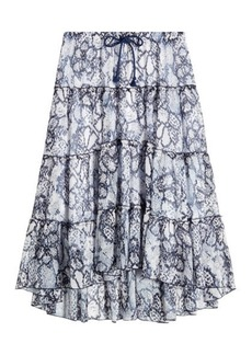 See by Chloé Cotton-Silk Printed Skirt