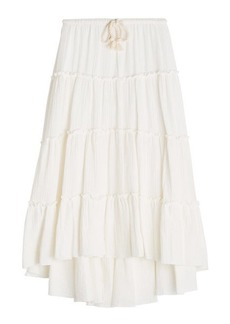 See by Chloé Cotton Skirt with Rope Belt