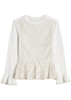 See by Chloé Cotton Top with Lace