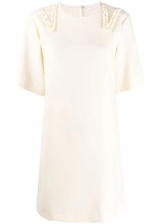 See by Chloé crepe ruffle trim dress