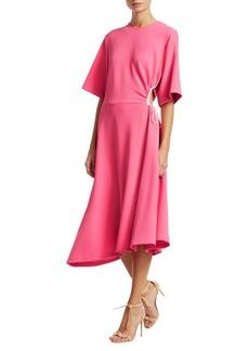 See by Chloé Crepe Short Sleeve Midi Dress