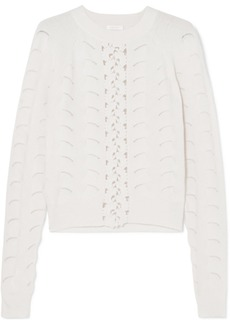 See by Chloé Crochet And Pointelle-knit Sweater