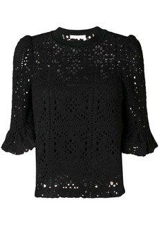 See by Chloé crochet effect blouse