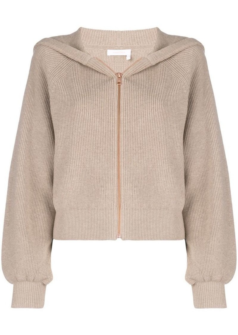 See by Chloé crochet embroidered cardigan