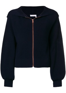 See by Chloé crochet embroidered hoody