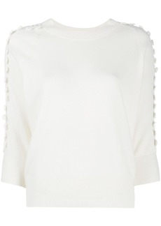 See by Chloé crochet-trim sweater top