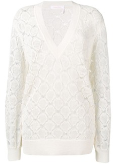 See by Chloé crochet V-neck sweater