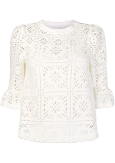 See by Chloé crocheted loose blouse