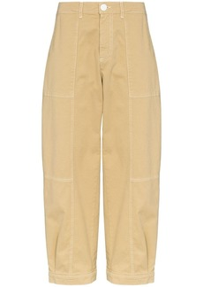 See by Chloé cropped gabardine denim trousers