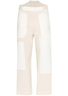 See by Chloé cropped patchwork trousers