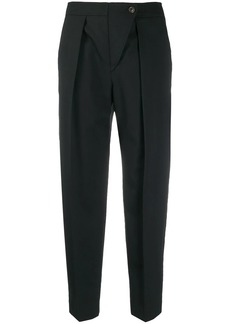 See by Chloé cropped pleated waist trousers