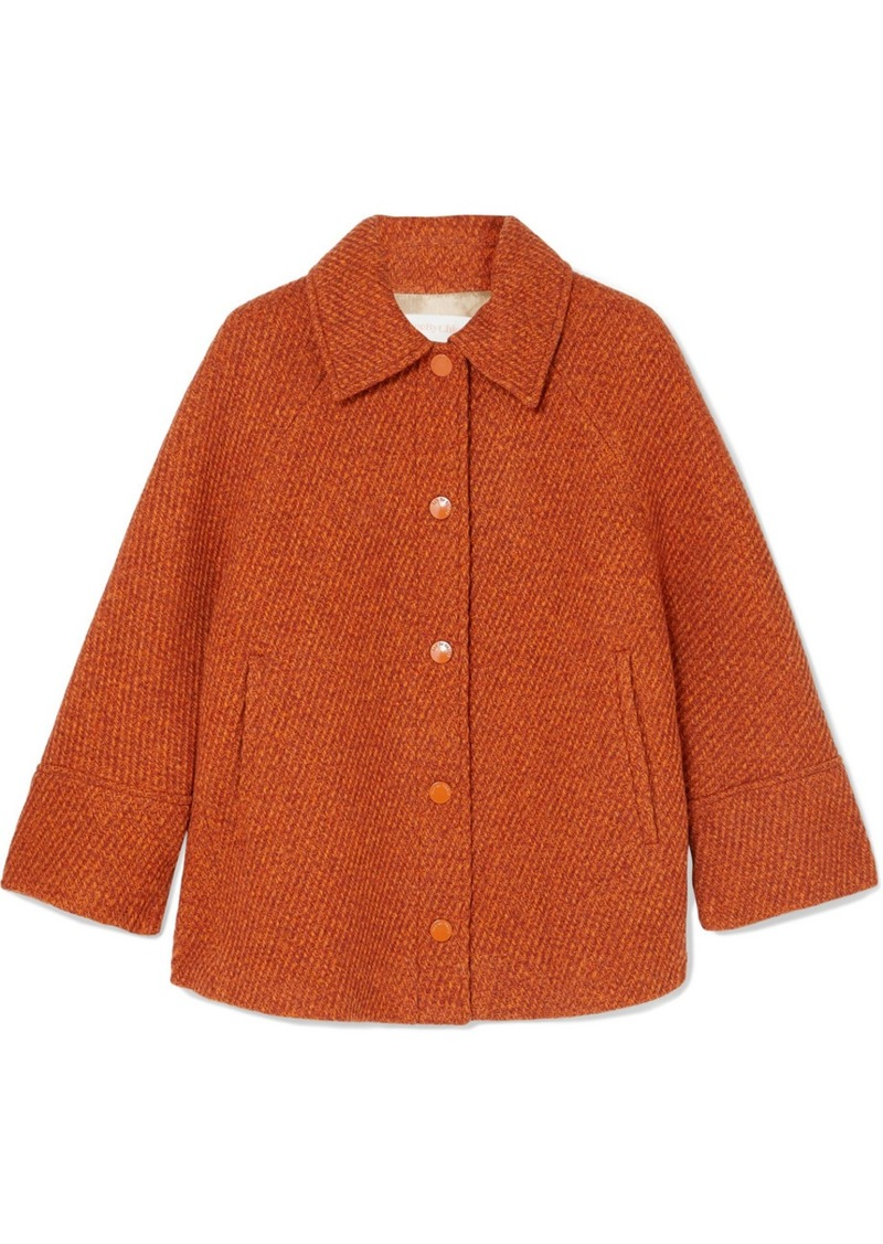 See by Chloé Cropped Wool-blend Tweed Jacket