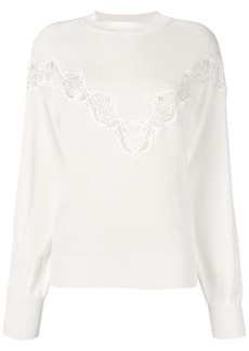 See by Chloé Crystal white sweater