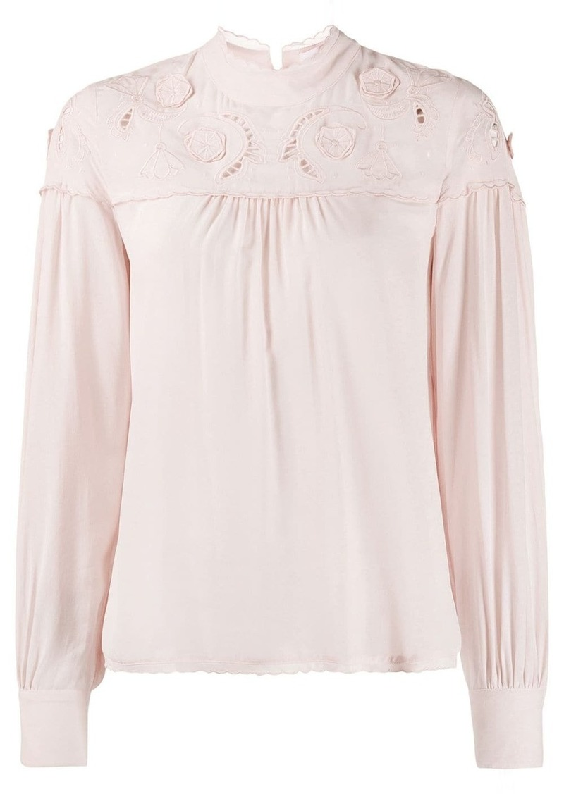 See by Chloé cut out blouse
