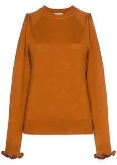 See by Chloé cut out shoulder wool jumper