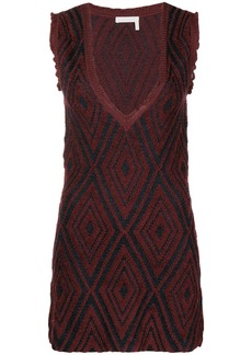 See by Chloé deep V-neck dress