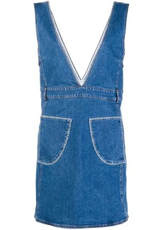 See by Chloé denim pinafore dress