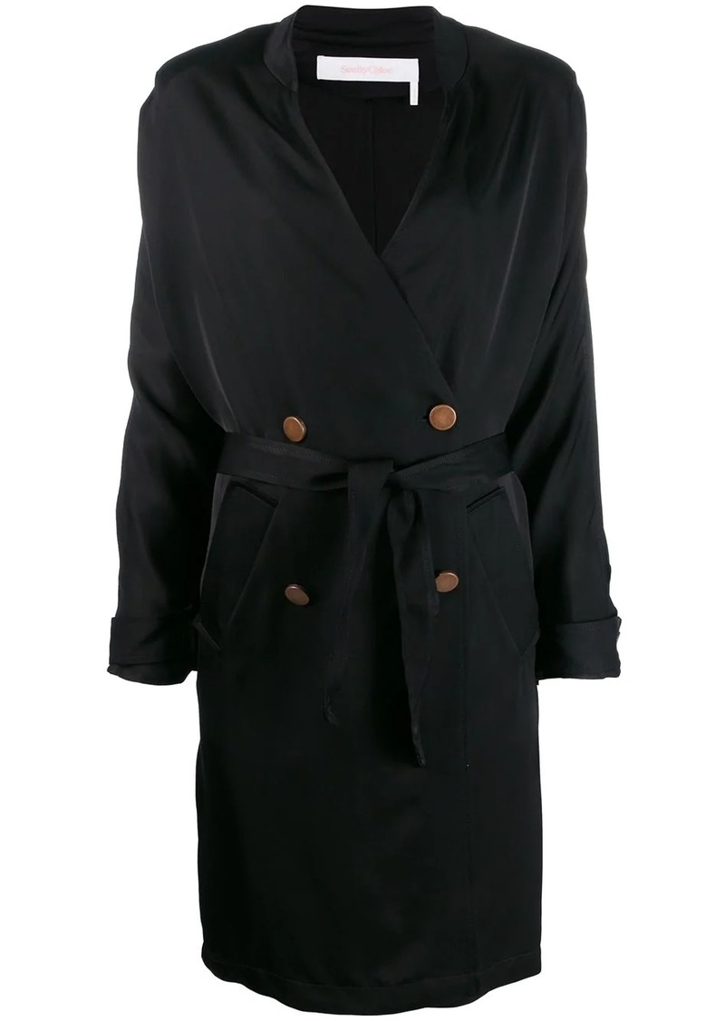 See by Chloé double breasted wrap coat