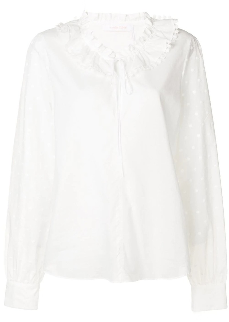 See by Chloé drawstring blouse