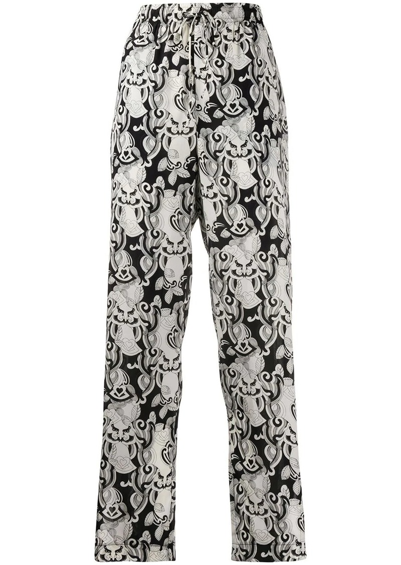 See by Chloé drawstring embroidered trousers