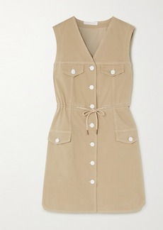 See by Chloé Drawstring Stretch-cotton Gabardine Dress