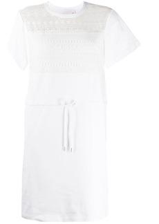 See by Chloé drawstring waist T-shirt dress