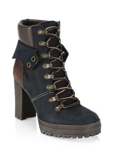 See by Chloé Eileen Brown Platform Hiking Boots