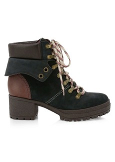 See by Chloé Eileen Nubuck & Leather Hiking Boots