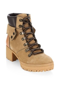 See by Chloé Eileen Tan Platform Hiking Boots