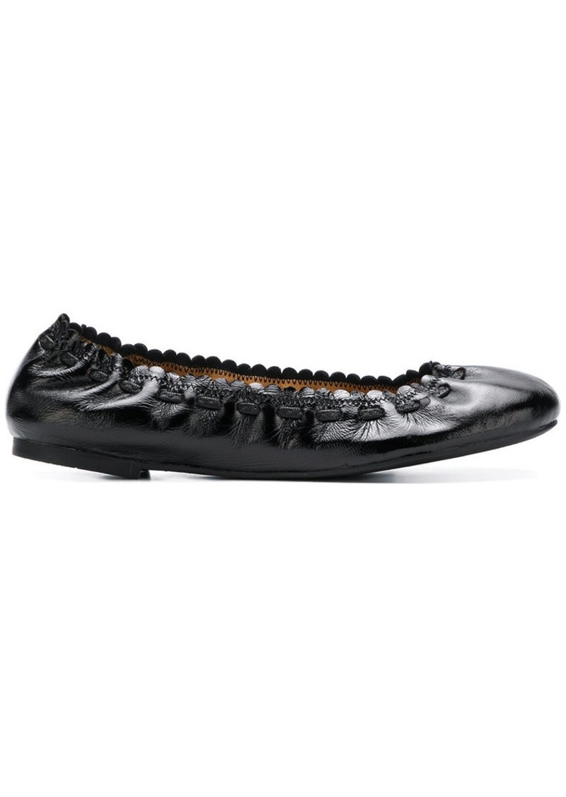 See by Chloé elasticated ballerina shoes