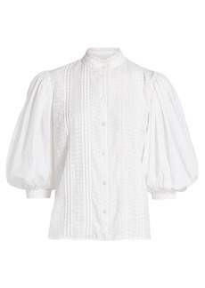 See by Chloé Embellished Cotton Voile Blouse