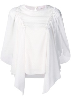 See by Chloé embellished draped blouse
