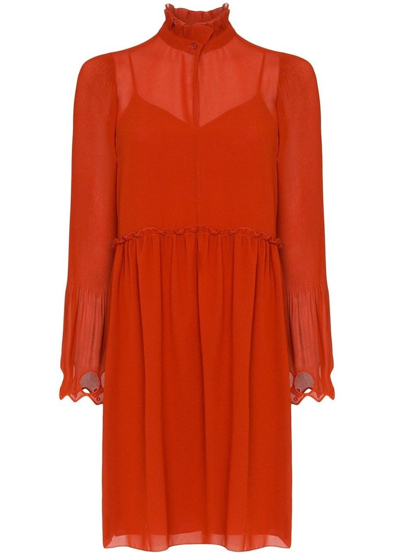 See by Chloé embellished georgette dress